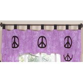 Peace Purple Collection Window Valance