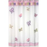 Butterfly Pink and Purple Shower Curtain