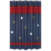Wild West Cowboy Collection Shower Curtain  - Denim