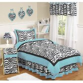 Turquoise Funky Zebra Kid Bedding Collection