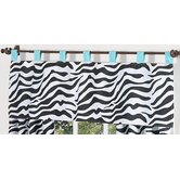 Zebra Turquoise Collection Window Valance