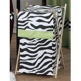 Lime Funky Zebra Laundry Hamper
