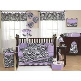 Zebra Purple Collection 9pc Crib Bedding Set