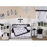Princess Black and White Collection 9pc Crib Bedding Set
