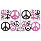 Peace Pink Collection Wall Decal Stickers