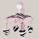 Zebra Pink Collection Musical Mobile