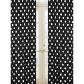 Hot Dot Cotton Rod Pocket Curtain Panel Pair