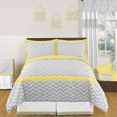 Yellow and Gray Zig Zag Bedding Collection