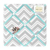 Zig Zag Turquoise and Gray Collection Memo Board