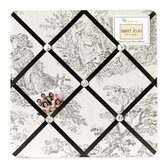Black Toile Collection Memo Board