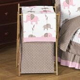 Elephant Pink Laundry Hamper