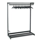 Single-Sided Rack with Two Shelves in Black