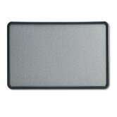 Contour Fabric Bulletin Board in Gray with Plastic Graphite Frame