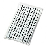 Magnetic Numbers for Magnetic Boards in Black-on-White