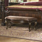 Grand European Wooden Bedroom Bench