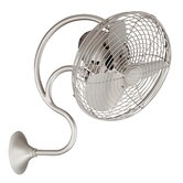 Melody Oscillating Wall Fan with Decorative Wall Switch