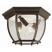Outdoor  Flush Mount with Beveled Glass