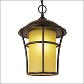 Outdoor One 17&quot; x 12&quot; Light Hanging Lantern in Weathered Bronze