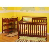 Athena Amy Two Piece Convertible Crib Set in Cherry