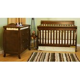 Athena Alice Two Piece Convertible Crib Set in Espresso