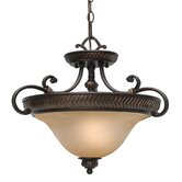 Jefferson 3 Lights Convertible Semi Flush Mount