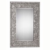 Jewelry 46&quot; x 30&quot; Mirror in Brushed Steel