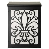 Fleur de Lis Vertical Wall Mounted Mailbox