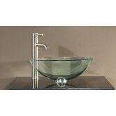 5.5&quot; x 16.5&quot; Tempered Glass Vessel Sink