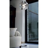 Floral Floor Lamp in Chrome