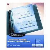 Wilson Jones Economy Weight Sheet Protector, 50/Box