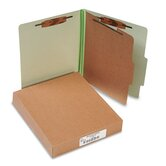 Pressboard 25-Pt. Classification Folder, Letter, 4-Section, 10/Box