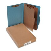 Pressboard 25-Pt. Classification Folders, Legal, 6 Section, 10/Box