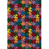 Just for Kids Kid Essentials Puzzled Jigsaw Pieces Kids Rug