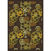 Gaming and Entertainment Blockbuster Brown Novelty Rug
