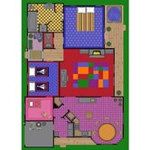 Educational Creative Play House Kids Rug