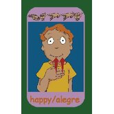 Educational Signs of Emotions Kids Rug