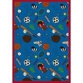 Multi-Sport Blue Kids Rug