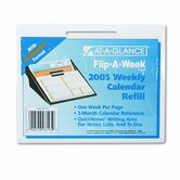 Flip-A-Week with QuickNotes Weekly Desk Calendar Refill, 5-5/8w x 7h, 2013