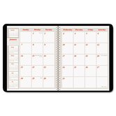 Weekly/Monthly Appointment Book, Hourly Ruled, 6-7/8 x 8-3/4, Black, 2013