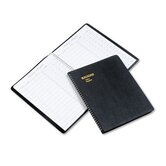 Visitor Register Book, Black Simulated Leather, 60 Pages, 8-1/2 x 11, 2012