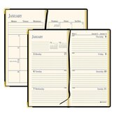 "Weekly/Monthly Pocket Diary, Jan-Dec, 2 Pages per Week, 2-7/8""x4-7/8""Page Size, Black, 2013"