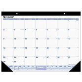"Monthly Desk Pad Calendar, 12 Month Jan-Dec, 22""x17"", Black Binding, 2013"