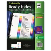 Ecofriendly Ready Index Table of Contents Divider, A-Z Tabs