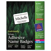 Ecofriendly Name Badge Labels, 160/Box