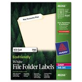 EcoFriendly Labels, 2/3 x 3 7/16, White, 750/Pack