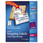 Shipping Labels with Paper Receipt, 50/Pack