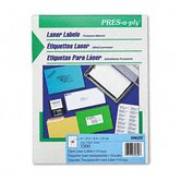 Pres-A-Ply Laser Address Labels, 1 x 2-5/6, Clear, 1400/Box