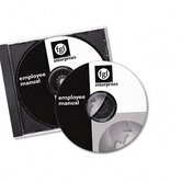 Laser CD/DVD Labels, Matte White, 40/Pack