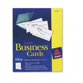 Laser Business Cards, 2 x 3-1/2, White, 10 Cards per Sheet, 2,500 Cards per Box