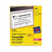 Permanent I.D. Labels for Laser Printers, 8-1/8 x 5, White, 100/Pack